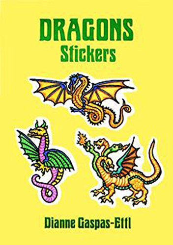 9780486289809: Dragons Stickers: 20 Full-Color Pressure-Sensitive Designs (Dover Stickers)