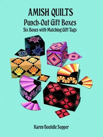 9780486290881: Amish Quilts Punch-Out Gift Boxes