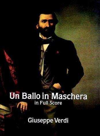 Un Ballo in Maschera in Full Score (Dover Music Scores): Giuseppe Verdi