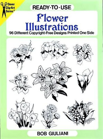 9780486292175: Ready-to-Use Flower Illustrations: 96 Different Copyright-Free Designs Printed One Side (Clip Art Series)