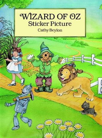 9780486293103: Wizard of Oz Sticker Picture: With 27 Reusable Peel-and-Apply Stickers (Dover Sticker Books)