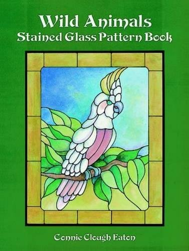 Wild Animals Stained Glass Pattern Book (Paperback)
