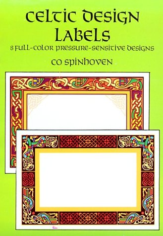 Celtic Design Labels: 8 Full Color Peel-and-Apply: Spinhoven