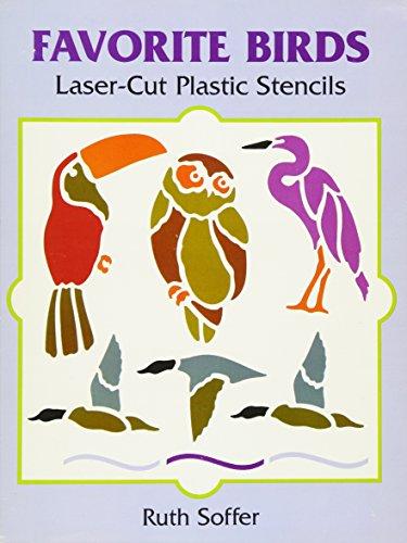 9780486295503: Favorite Birds Laser-Cut Plastic Stencils (Dover Stencils)