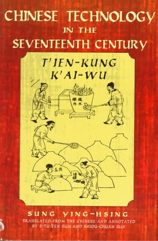 9780486295930: Chinese Technology in the Seventeenth Century: T'ien-kung K'ai-wu