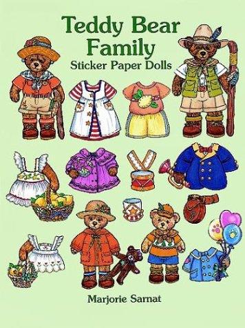 9780486296814: Teddy Bear Family Sticker Paper Dolls