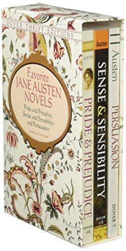 9780486297484: Favorite Jane Austen Novels: Pride and Prejudice, Sense and Sensibility and Persuasion