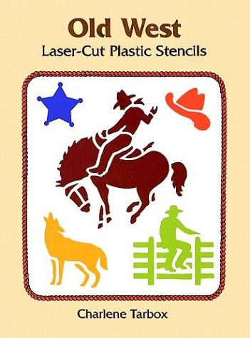 9780486298009: Old West Laser-Cut Plastic Stencils (Dover Stencils)