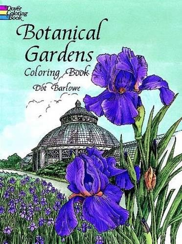 botanical gardens coloring book dover nature coloring book - Nature Coloring Book
