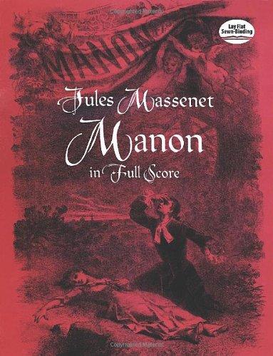Manon in Full Score (Dover Music Scores): Massenet, Jules
