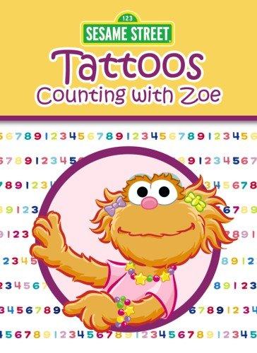 9780486330198: Sesame Street Counting with Zoe Tattoos (Sesame Street Tattoos)