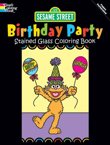 9780486330259: Sesame Street Birthday Party Stained Glass Coloring Book (Sesame St Stained Glass Coloring Books)