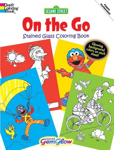 9780486330327: Sesame Street On the Go GemGlow Stained Glass Coloring Book (Sesame St Stained Glass Coloring Books)