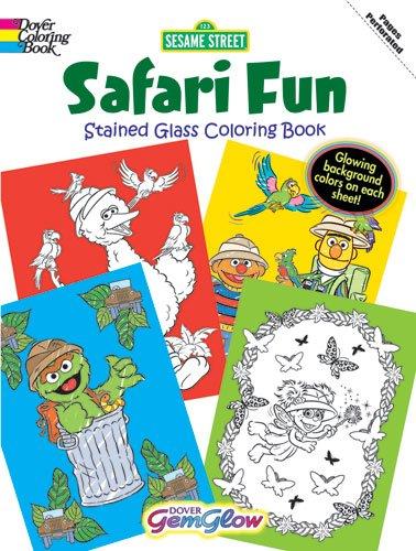 Sesame Street Safari Fun GemGlow Stained Glass Coloring Book (Sesame ...