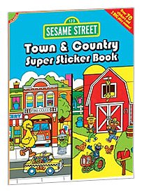 9780486330631: Sesame Street Classic Town & Country Super Sticker Book (Sesame Street Stickers) (English and English Edition)