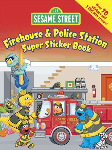 9780486330747: Sesame Street Firehouse & Police Station Super Sticker Book (Sesame Street Stickers) (English and English Edition)