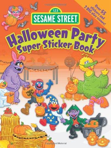 9780486331027: Sesame Street Halloween Party Super Sticker Book
