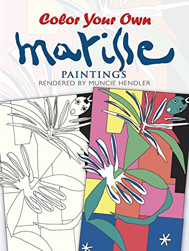 9780486400303: Color Your Own Matisse Paintings (Dover Art Coloring Book)