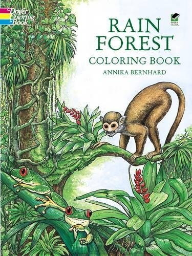9780486401126: Rain Forest Coloring Book