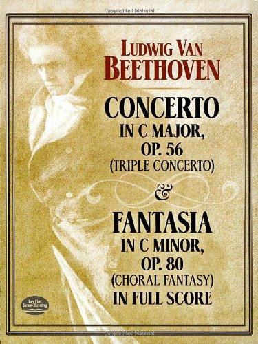 9780486401485: Concerto in C Major, Op. 56 (Triple Concerto): and Fantasia in C Minor, Op. 80 (Choral Fantasy) in Full Score (Dover Music Scores)