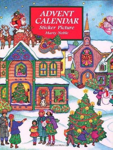9780486402451: Advent Calendar Sticker Picture (Dover Sticker Books)