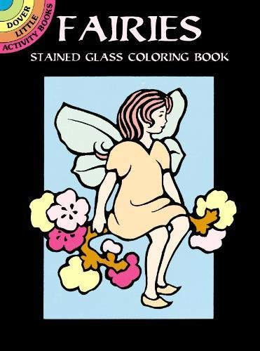 9780486402475: Fairies Stained Glass Colouring Book (Dover Little Activity Books) (Dover Stained Glass Coloring Book)