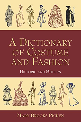 9780486402949: A Dictionary of Costume and Fashion: Historic and Modern (Dover Fashion and Costumes)