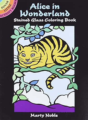9780486403052: Alice in Wonderland Stained Glass Coloring Book (Dover Stained Glass Coloring Book)