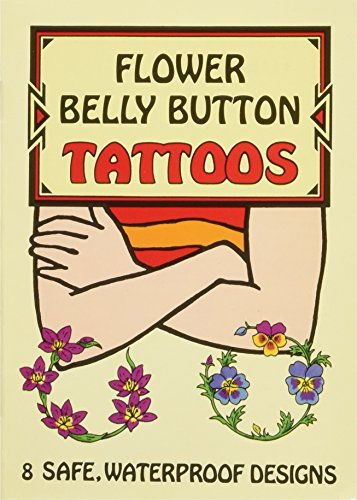 FLOWER BELLY BUTTON TATTOOS (8 different designs)
