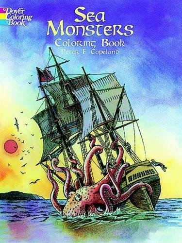 9780486405629: Sea Monsters Coloring Book (Dover Coloring Books)