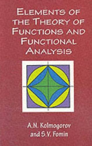 9780486406831: Elements of the Theory of Functions and Functional Analysis (Dover Books on Mathematics)