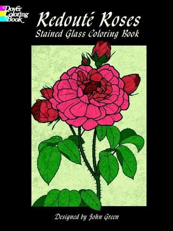 9780486408071: Redouté Roses Stained Glass Coloring Book (Coloring Books)