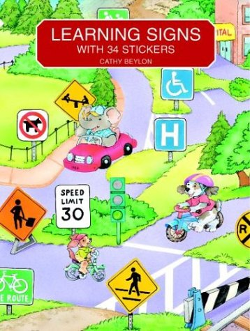 9780486408163: Learning Signs: With 34 Stickers