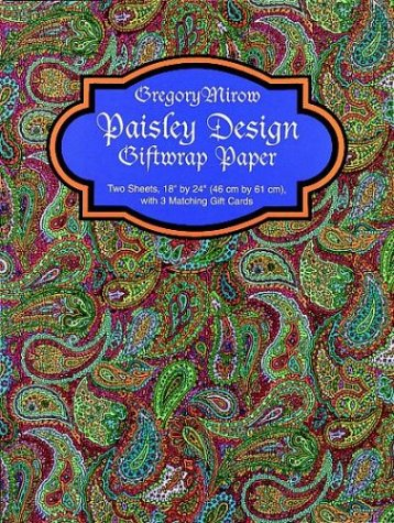 9780486408385: Paisley Design Giftwrap Paper (Giftwrap--2 Sheets, 1 Designs)