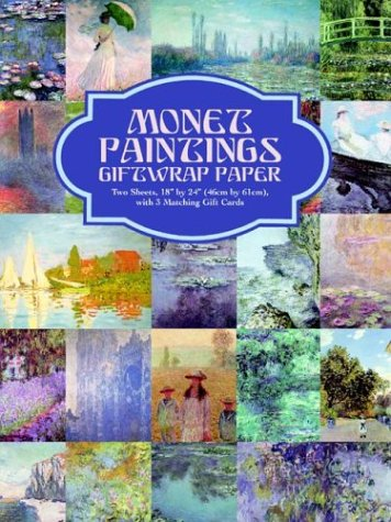 9780486408392: Monet Paintings Giftwrap Paper (Giftwrap--2 Sheets, 1 Designs)