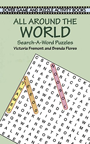 9780486408422: All Around the World Search-a-Word Puzzles (Dover Children's Activity Books)