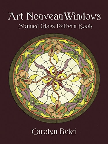 9780486409535: Art Nouveau Windows Stained Glass Pattern Book (Dover Stained Glass Instruction)
