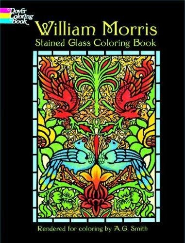 9780486410425: William Morris Stained Glass Coloring Book (Dover Design Stained Glass Coloring Book)