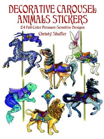 9780486410685: Decorative Carousel Animals Stickers