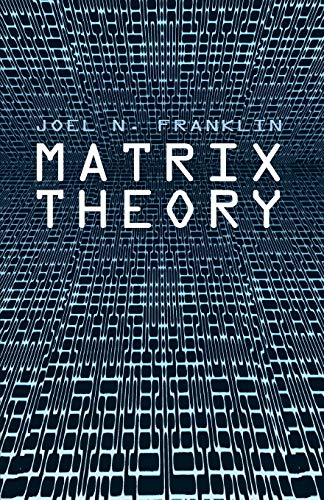 9780486411798: Matrix Theory (Dover Books on Mathematics)