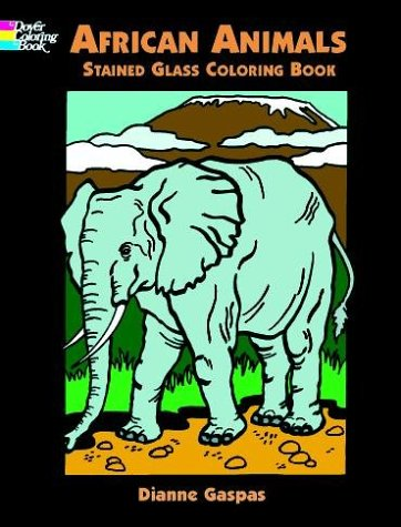 9780486413273: African Animals Stained Glass Coloring Book