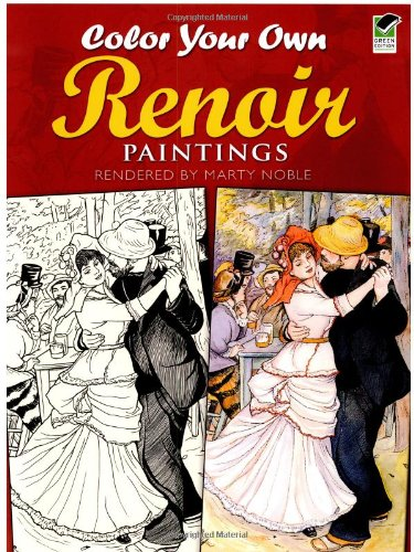 9780486415468: Color Your Own Renoir Paintings (Dover Art Coloring Book)