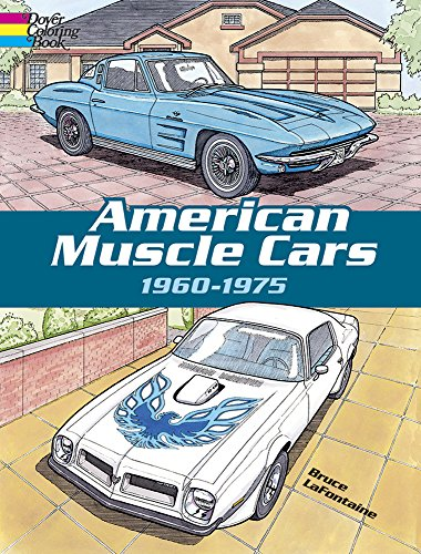 9780486418636: American Muscle Cars, 1960-1975 (Dover History Coloring Book)