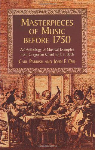 9780486418810: Masterpieces of Music before 1750 (Dover Books on Music)