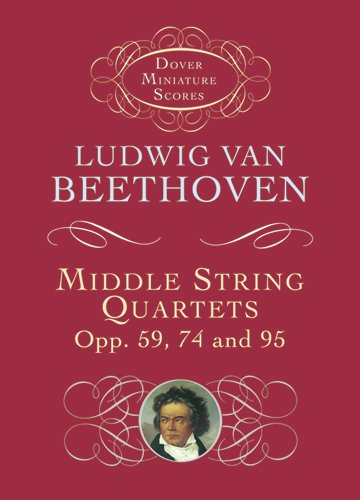 9780486419053: Middle String Quartets, Opp. 59, 74, and 95 (Dover Miniature Music Scores)