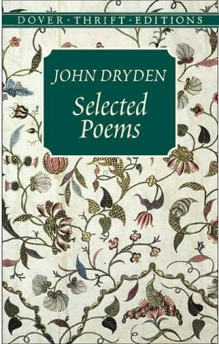 Selected Poems (Dover Thrift Editions): Dryden, John