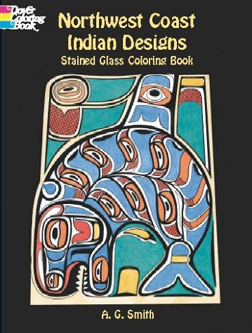 9780486420813: Northwest Coast Indian Designs Stained Glass Coloring Book (Dover Pictorial Archives)