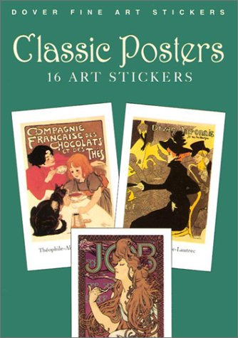 9780486421421: Classic Posters: 16 Art Stickers (Dover Art Stickers)