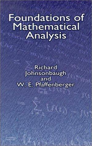 9780486421742: Foundations of Mathematical Analysis