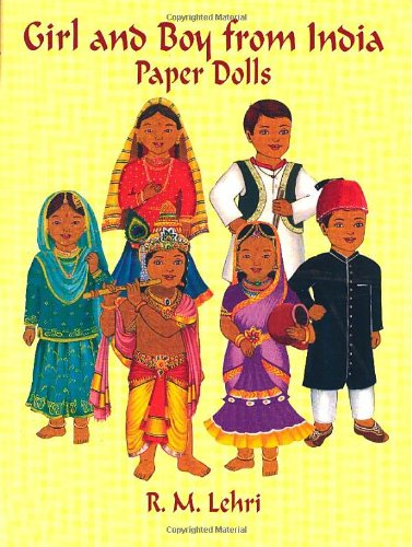 9780486421896: Girl and Boy from India Paper Dolls